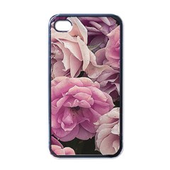 Great Garden Roses Pink Apple Iphone 4 Case (black)
