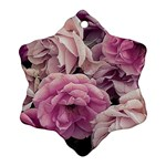 Great Garden Roses Pink Snowflake Ornament (2-Side)