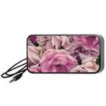 Great Garden Roses Pink Portable Speaker (Black)