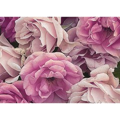 Great Garden Roses Pink Birthday Cake 3d Greeting Card (7x5)