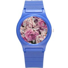 Great Garden Roses Pink Round Plastic Sport Watch (s)