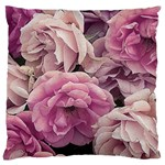 Great Garden Roses Pink Large Cushion Cases (Two Sides)