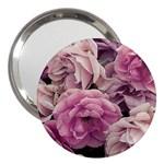 Great Garden Roses Pink 3  Handbag Mirrors