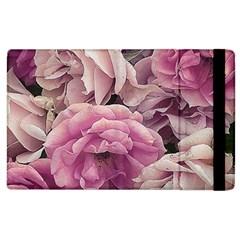 Great Garden Roses Pink Apple Ipad 3/4 Flip Case by MoreColorsinLife