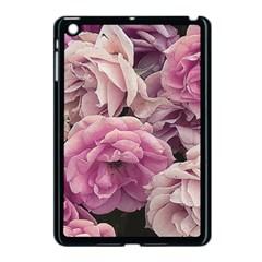 Great Garden Roses Pink Apple Ipad Mini Case (black) by MoreColorsinLife