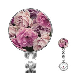 Great Garden Roses Pink Stainless Steel Nurses Watches