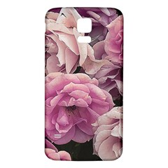 Great Garden Roses Pink Samsung Galaxy S5 Back Case (white) by MoreColorsinLife