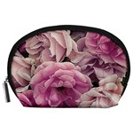 Great Garden Roses Pink Accessory Pouches (Large)