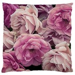 Great Garden Roses Pink Large Flano Cushion Cases (One Side)