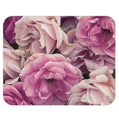 Great Garden Roses Pink Double Sided Flano Blanket (medium)