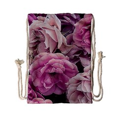 Great Garden Roses Pink Drawstring Bag (small)