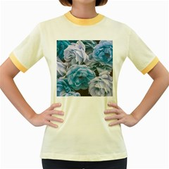 Great Garden Roses Blue Women s Fitted Ringer T Shirts