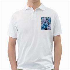 Great Garden Roses Blue Golf Shirts