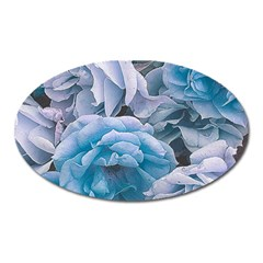 Great Garden Roses Blue Oval Magnet
