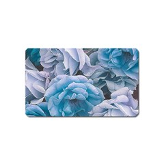 Great Garden Roses Blue Magnet (Name Card) by MoreColorsinLife