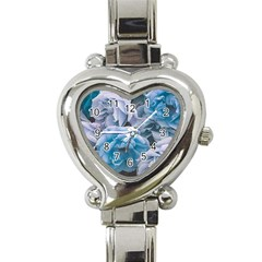 Great Garden Roses Blue Heart Italian Charm Watch