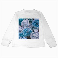 Great Garden Roses Blue Kids Long Sleeve T Shirts