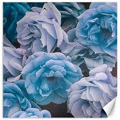 Great Garden Roses Blue Canvas 12  X 12