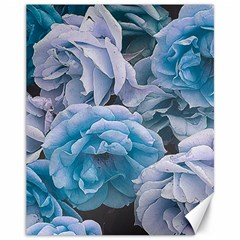 Great Garden Roses Blue Canvas 11  X 14