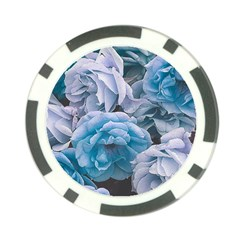 Great Garden Roses Blue Poker Chip Card Guards