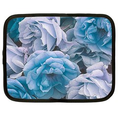 Great Garden Roses Blue Netbook Case (large)	 by MoreColorsinLife