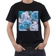 Great Garden Roses Blue Men s T Shirt (black)