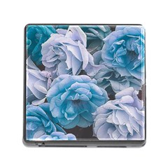 Great Garden Roses Blue Memory Card Reader (square)