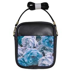 Great Garden Roses Blue Girls Sling Bags