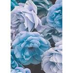 Great Garden Roses Blue Apple 3D Greeting Card (7x5)  Inside