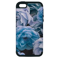 Great Garden Roses Blue Apple Iphone 5 Hardshell Case (pc+silicone)