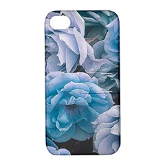 Great Garden Roses Blue Apple Iphone 4/4s Hardshell Case With Stand