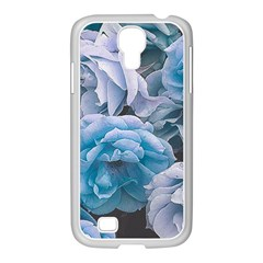 Great Garden Roses Blue Samsung Galaxy S4 I9500/ I9505 Case (white)