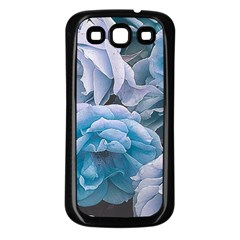 Great Garden Roses Blue Samsung Galaxy S3 Back Case (black)