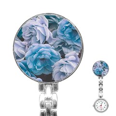 Great Garden Roses Blue Stainless Steel Nurses Watches