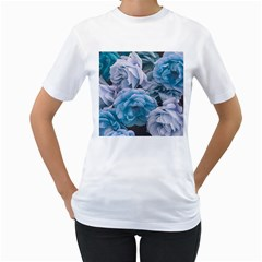 Great Garden Roses Blue Women s T Shirt (white)