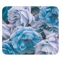 Great Garden Roses Blue Double Sided Flano Blanket (small)