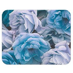 Great Garden Roses Blue Double Sided Flano Blanket (medium)