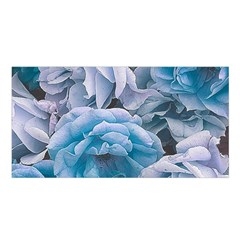 Great Garden Roses Blue Satin Shawl