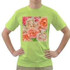 Great Garden Roses, Orange Green T Shirt