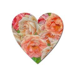 Great Garden Roses, Orange Heart Magnet by MoreColorsinLife