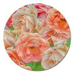Great Garden Roses, Orange Magnet 5  (round)
