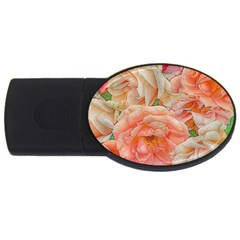 Great Garden Roses, Orange Usb Flash Drive Oval (2 Gb)  by MoreColorsinLife
