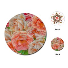 Great Garden Roses, Orange Playing Cards (Round)