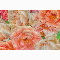 Great Garden Roses, Orange Collage 12  x 18  by MoreColorsinLife