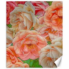 Great Garden Roses, Orange Canvas 20  X 24