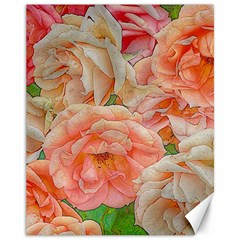Great Garden Roses, Orange Canvas 11  X 14