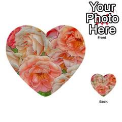 Great Garden Roses, Orange Multi Purpose Cards (heart)