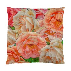 Great Garden Roses, Orange Standard Cushion Cases (two Sides)  by MoreColorsinLife