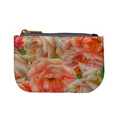 Great Garden Roses, Orange Mini Coin Purses