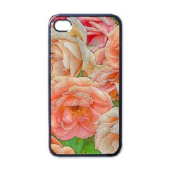 Great Garden Roses, Orange Apple Iphone 4 Case (black)